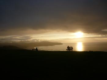 puesta del sol mar cantabrico