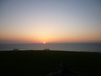 puesta del sol san vicente de la barquera